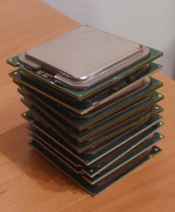 …an entire stack of CPU chips.